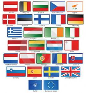 Знамена на страните в ЕС